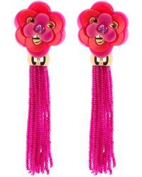 Kate Spade Floral Tassel Earrings - Pink