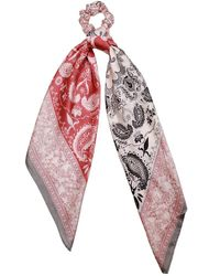 Berry Convertible Silk Scarf - Red