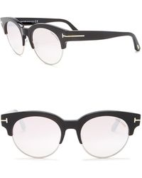Tom Ford - Henri 52mm Semi-rimless Sunglasses - Lyst
