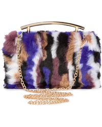 Sondra Roberts - Faux Fur Box Clutch - Lyst