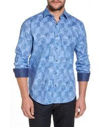 Bugatchi - Regular Fit Checkerboard Sport Shirt - Lyst
