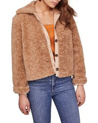 Astr Teddi Faux Fur Jacket - Multicolor