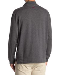 Tommy Bahama Alpine View Quarter Zip & Button Pullover - Grey