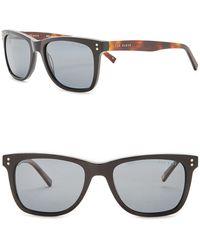 Ted Baker 53mm Polarized Acetate Frame Square Sunglasses - Black