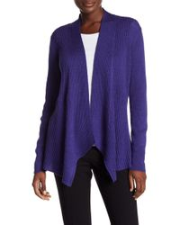 Eileen Fisher - Angle Front Cardigan - Lyst