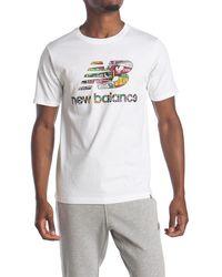 New Balance Essentials Stacked Logo T- Shirt - White