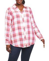 Foxcroft - Fay Plaid Shirt (plus Size) - Lyst