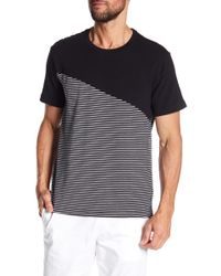 Kenneth Cole - Blocked Stripe Crew Neck Tee - Lyst