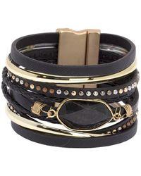 Saachi Midnight Tropic Bracelet - Black