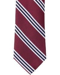Nautica Bilge Stripe Tie - Red