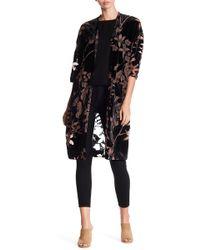 Dress Forum - Open Front Velvet Floral Cardigan - Lyst