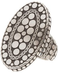 John Hardy - Oval Dotted Sterling Silver Ring - Size 7 - Lyst