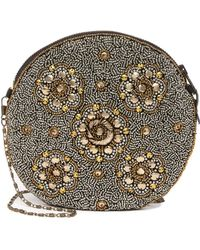 G-Lish Beaded Round Pouch - Multicolor