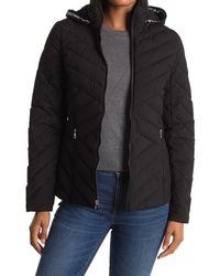 Nautica Short Hooded Puffer Jacket - Black