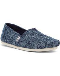 TOMS - Washed Denim Slip-on Sneaker - Lyst