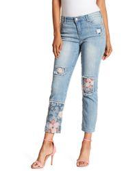 Nine West Astor Cropped Boyfriend Jeans - Blue