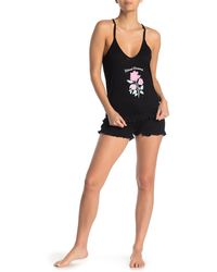 Jessica Simpson Eternal Dreams 2-piece Pajama Shorts Set - Black