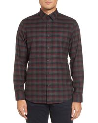 Calibrate - Check Flannel Sport Shirt - Lyst
