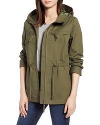 Halogen Zip Front Field Jacket - Green