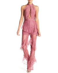 Wow Couture - Lace Paneled Jumpsuit - Lyst