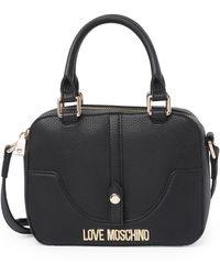 Love Moschino Borsa Pebbled Shoulder Bag - Black
