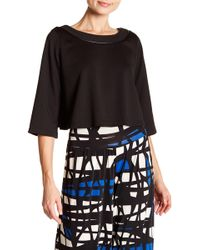 Analili - Elbow Sleeve Cropped Tee - Lyst