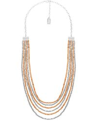 Karine Sultan - Beaded Multi-strand Necklace - Lyst