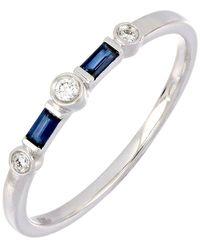 Bony Levy 18k White Gold Diamond & Sapphire Ring - Metallic