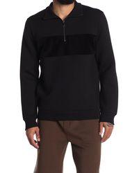 Reiss - Sebastian Tonal Block Quarter Zip Sweater - Lyst