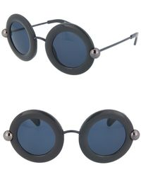 Christopher Kane Round 54mm Sunglasses In Gray Gray At Nordstrom Rack