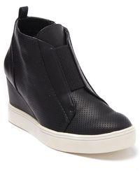 MIA Cristie Wedge Sneaker - Black