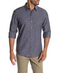 Zachary Prell Jablon Long Sleeve Print Shirt - Blue