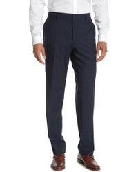 BOSS by Hugo Boss Genesis Dark Blue Check Slim Fit Suit Separates Pants