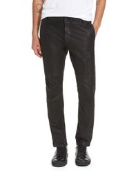Vince - Slim Leather Moto Trousers - Lyst