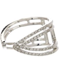 Meira T - 14k White Gold Diamond Pave Ring - 0.39 Ctw - Lyst