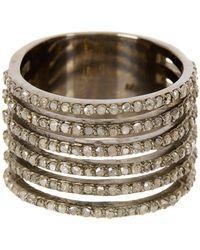 Adornia Saturnia Champagne Diamond Ring - 1.60 Ctw - Metallic