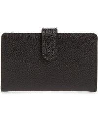 Nordstrom Kelly Leather Card Case In Black At Rack