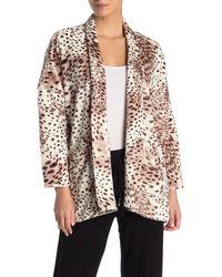 N Natori Leopard Print Cardigan - Multicolor