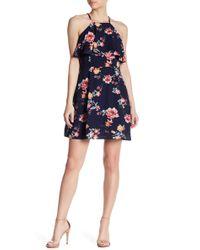 19 Cooper - Floral Popover Halter Dress - Lyst