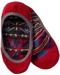 Pendleton Rio Canyon Liner Socks - Red