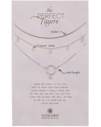 Dogeared - Perfect Layers Necklace - Set Of 3 - Lyst
