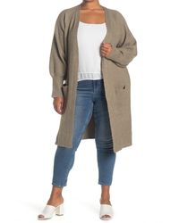 Sweet Romeo Open Front Duster Cardigan - Multicolor