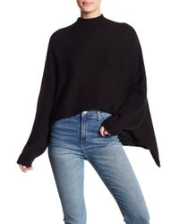 Oober Swank - Mock Neck Hi-low Knitted Sweater - Lyst