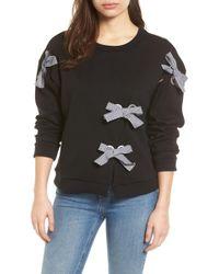 Halogen - Grommet Bow Sweatshirt (regular & Petite) - Lyst
