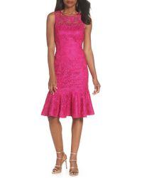 Eliza J - Sleeveless Lace Sheath Dress (regular & Petite) - Lyst