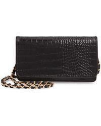 Nordstrom Sandra Leather Clutch - Black