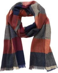 Tommy Bahama - Cashmere & Wool Squares Print Wrap Scarf - Lyst