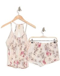 Jessica Simpson Printed Camisole & Shorts 2-piece Pajama Set - Pink
