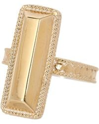 Anna Beck - 18k Gold Plated Sterling Silver Long Bar Ring - Lyst