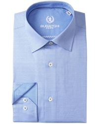 Bugatchi - Solid Texture Shaped Fit Dress Shirt - Lyst